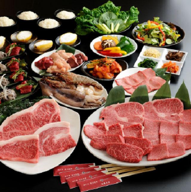 神戸牛 宴会コース【塩焼】のセット内容